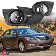 13-15 For Nissan Altima Clear Lens Pair Oe Fog Light Lamp+wiring+switch Kit Dot