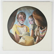 Untitled Father And Daughter W/ Makeup By Anthony Sidoni Oil On Canvas 24x24
