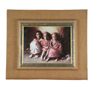 Untitled 3 Children W/ Blankets By Anthony Sidoni 2006 Signed Oil Painting
