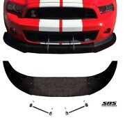 Front Splitter + 2 Support Rods For 2010-2014 Shelby Gt500 Mustangs