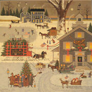 Cape Cod Christmas By Charles Wysocki Signed Lithograph 15 1/2x15 1/2