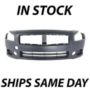New Primered - Front Bumper Cover Fascia Replacement For 2009-2014 Nissan Maxima