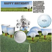 Golf Party Supplies Tableware Decorations Banner Centrepiece Balloons