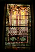 + 120 Year Old Opalescent Stained Glass Window, 38 W X 66 Ht. + Chalice Co.r