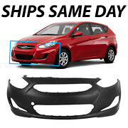 Primered - Front Bumper Cover For 2012 2013 Hyundai Accent Sedan / Hatch 12 13
