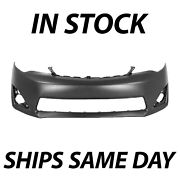 Primered - Front Bumper Cover Fascia For 2012-2014 Toyota Camry Xle L E 12-14