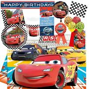 Disney Cars Rsn Racing Mcqueen Party Tableware, Decorations, Balloons
