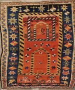 3and03910 X 4and0398 Antique Turkish Prayer Rug 5258