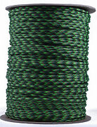 Neon Green Flame - 550 Paracord Rope 7 Strand Parachute Cord - 1000 Foot Spool