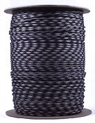 Obsidian - 550 Paracord Rope 7 Strand Parachute Cord - 1000 Foot Spool