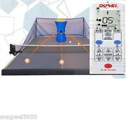 Oukei Table Tennis Robot W/wireless Remote Control And 2 Throwing Wheels Autocoach