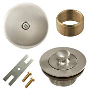 Brushed Nickel Lift And Turn Bathtub Drain Conversion Kit Assembly, Overflow