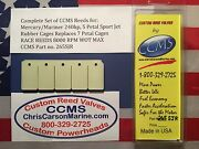 Ccms Mercury/mariner Racing Outboard Reed 240hp 5 Petal Rubber Cages Pn.265sjr