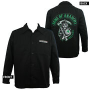 Authentic Sons Of Anarchy Ireland Screenprinted Long Sleeve Shirt S New