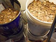 500 Face Value 340 Lbs Us Copper Pennies Machine Sorted 1959-1982 50000 Coins