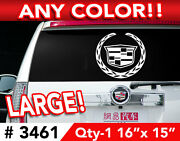 Cadillac Escalade Cts Sts Dts Large Decal Sticker 16w X 15 Any 1 Color