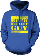 Beer Delivery Guy Truck Cases Cans Dolly Bar Drunk Party Belly Hoodie Sweatshirt
