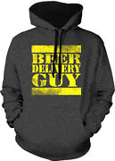 Beer Delivery Guy Truck Cases Cans Dolly Bar Drunk Am Two Tone Hoodie Sweatshirt