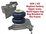 L Gm01xx 2001-2007 Chev Avalanche Upper Control Arms/bag/top Frame Mount