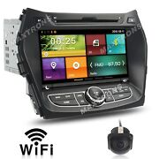 Car Dvd Gps Stereo Radio Navi For Hyundai Ix45 Santa Fe 2013 - 2018 Free Camera
