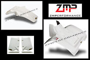 New Honda Atc 350x 85 - 86 White Plastic Front And Rear Fender Set And Scoops