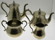 Robert Hennell 1865 English Tea And Coffee Set 4 Piece Sterling Silver