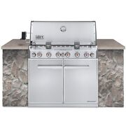 Weber Summit 7360001 S-660 Built-in Stainless-steel Lp New In Box Pick Up And Save