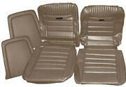 Ford Mustang Deluxe Pony Seat Trim Kit Parchment 65 66 1964 1965 1966 Fastback