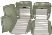 Mustang Deluxe Pony Seat Trim Kit Ivy Gold And White 65 66 1965 1966 Convertible