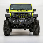 Front Bumper+fog Light Hole+d-ring+built-in Winch Plate Fit 07-18 Jeep Wrangler