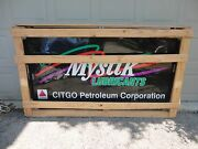 New In Factory Crate 77x45x15 Mystik Lubricants/citgo Petroleum Commercial Sign