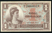Series 521 1 One Dollar Mpc Military Payment Certificate Gem Uncirculated