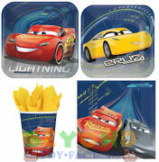 New Disney Cars 3 Birthday Party Express Pack For 8 Guests Plates,cups,napkins