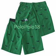 New Polo Whale Embroidered Shorts 34 35
