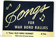 Wwii Songbook Pamphlets Songs For War Bond Rallies Wfd-940 U.s. Treasury Dept.
