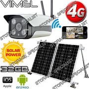 Wireless Security Camera 4g Solar Farm Gsm Home Ip Alarm System Remote Monitor