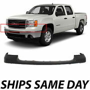 New Primered - Front Bumper Top Cover Upper Pad For 2007-2013 Sierra 1500 Pickup
