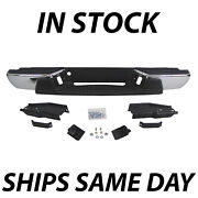 Complete Chrome Rear Steel Bumper For 2004-2007 Chevy Colorado Gmc Canyon Pickup