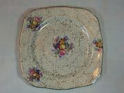H And K Tunstall 9 Square Luncheon Plate Pattern Hk12 Fruit And Floral Gold Trim