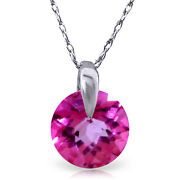1 Ctw 14k Solid White Gold Fine Admitting How Pink Topaz Necklace 16-24
