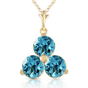 0.75 Ctw 14k Solid Gold Fine All That Jazz Blue Topaz Necklace 16-24