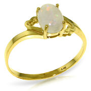 Brand New 0.45 Carat 14k Solid Gold Nearly Bare Opal Ring