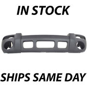 New Textured - Gray Front Bumper Cover For 2002 2003 2004 Jeep Liberty Sport Suv
