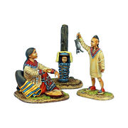 First Legion Awi098 Woodland Indian Squaw With Boy Hunter And Baby