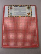 Vintage Punch Board Toms Special .10 Cigarette Gambling Device 4863 Boxpb-16