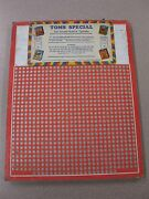 Vintage Punch Board Toms Special .10 Cigarette Gambling Device 3384 Boxpb-16