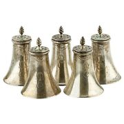 Sterling Silver Lot Of 5 Salt And Pepper Shakers