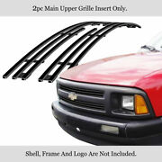 Fits 1994-1997 Chevy S-10/blazer Pickup Main Upper Black Billet Grille Insert