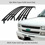 Stainless Black Billet Grill Fit 1999-2002 Chevy Silverado 1500/ 06 Tahoe