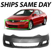 Primered - Front Bumper Cover Fascia For 2009 2010 2011 Honda Civic Coupe 09-11